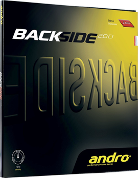 andro blackside 2.0 d rubber накладка tennis
