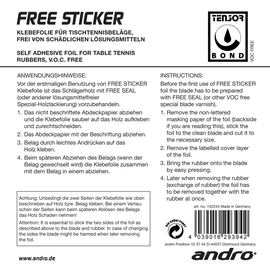 andro label labels table tennis
