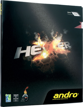 andro hexer rubber table tennis
