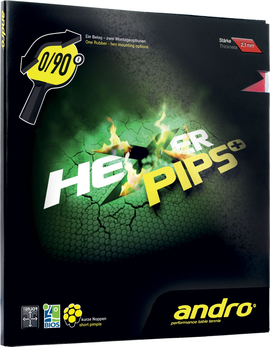 andro hexer pips plus + rubber накладка tennis table