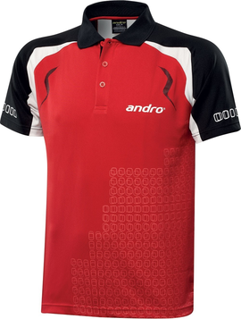 футболка andro mingo shirt polo table tennis